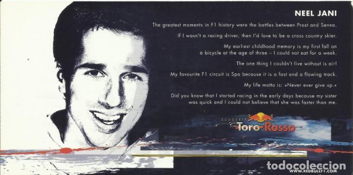 Coleccionismo deportivo: Neel Jani. Autógrafo. Firma original. Autograph. Automovilismo. Fórmula 1. Toro Rosso. Red Bull. - Foto 2 - 205150428