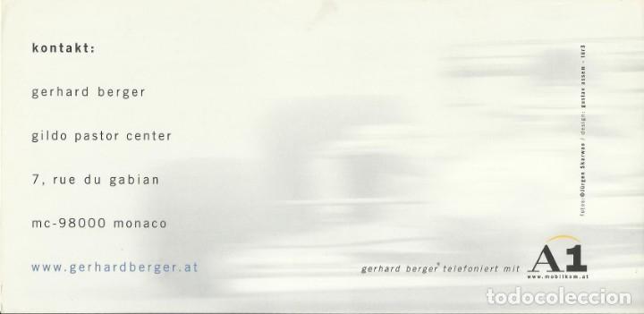 Coleccionismo deportivo: Gerhard Berger. Autógrafo. Firma original. Autograph. Automovilismo. Fórmula 1. BMW. - Foto 2 - 205152473