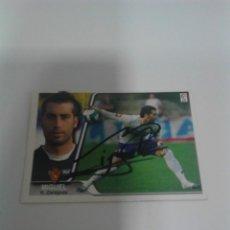 Coleccionismo deportivo: CROMO AUTOGRAFIADO MIGUEL - REAL ZARAGOZA.. Lote 205588323