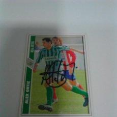 Coleccionismo deportivo: CROMO AUTOGRAFIADO ALEX ORTIZ - REAL BETIS.. Lote 205666813