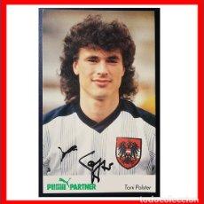 Coleccionismo deportivo: TARJETA FOTOGRAFICA DE TONI POLSTER, COMO JUGADOR DE LA SELECCION DE AUSTRIA, TAMBIEN DEL SEVILLA FC. Lote 205849783