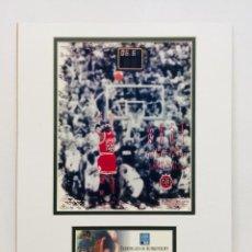Coleccionismo deportivo: MICHAEL JORDAN - FOTO EDICION LIMITADA & PARQUET USADO EN ULTIMO PARTIDO OFICIAL. Lote 206295332