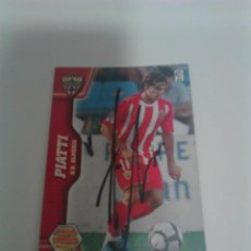 Coleccionismo deportivo: CROMO AUTOGRAFIADO PIATTI U.D. ALMERÍA.. Lote 206473033