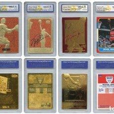 Coleccionismo deportivo: MICHAEL JORDAN - LOTE 6 CROMOS DE ORO ( 23 K ) - EDICION LIMITADA. Lote 206587810