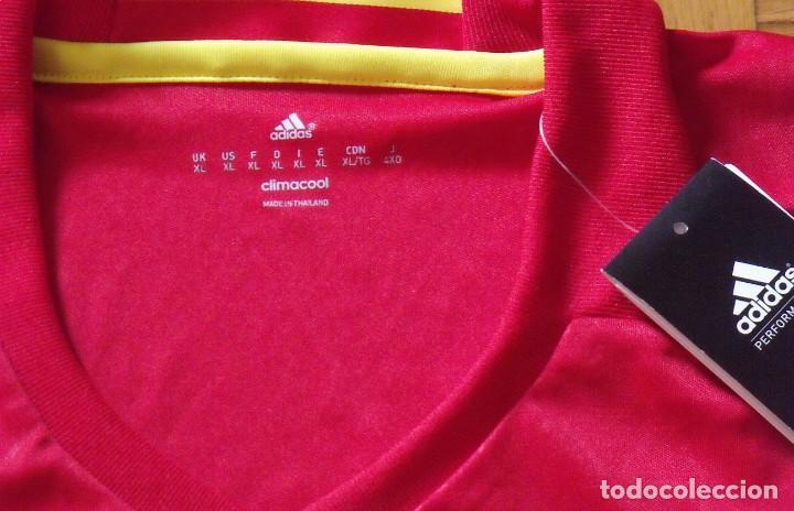 Coleccionismo deportivo: Camiseta original selección española fútbol. Firma, autógrafo Julen Lopetegui. XL. Adidas, Nueva. - Foto 3 - 209712513
