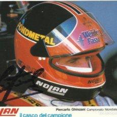 Coleccionismo deportivo: PIERCARLO GHINZANI. AUTÓGRAFO, FIRMA ORIGINAL. 1986. AUTOMOVILISMO. AUTOGRAPH. FÓRMULA 1. NOLAN.. Lote 209952983