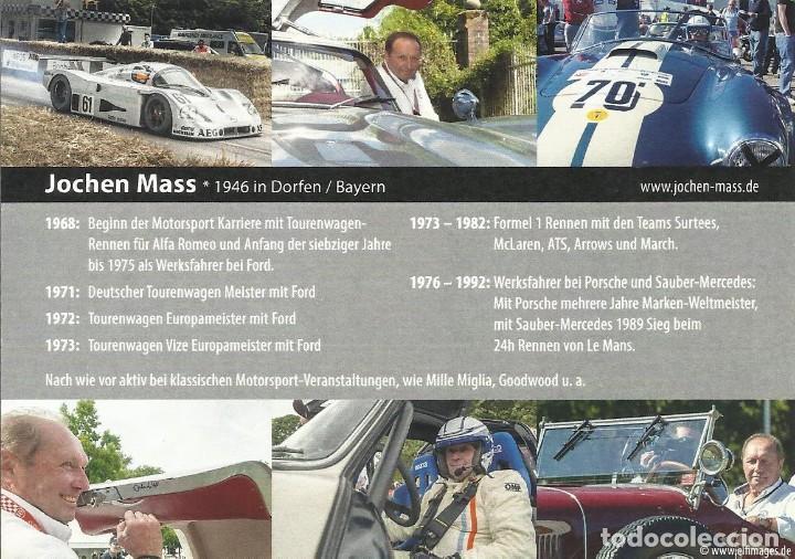 Coleccionismo deportivo: Jochen Mass. Autógrafo, firma original. 1992. 11x15 cm. Autograph. Fórmula 1. Arrows. McLaren. - Foto 2 - 209953983