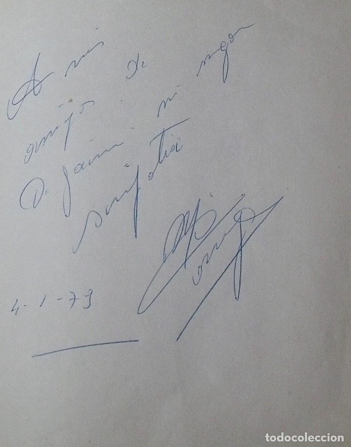 Coleccionismo deportivo: Mi diario. 40 autógrafos: Kubala, Kempes, Di Stefano, Ángel Nieto, Urtain, Pirri, Arconada, Bonhoff, - Foto 6 - 209998650