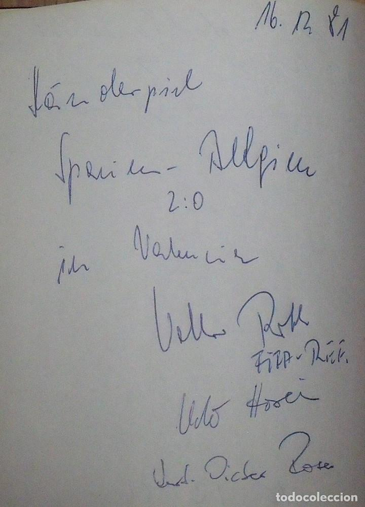 Coleccionismo deportivo: Mi diario. 40 autógrafos: Kubala, Kempes, Di Stefano, Ángel Nieto, Urtain, Pirri, Arconada, Bonhoff, - Foto 16 - 209998650