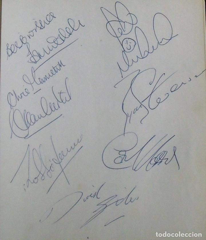 Coleccionismo deportivo: Mi diario. 40 autógrafos: Kubala, Kempes, Di Stefano, Ángel Nieto, Urtain, Pirri, Arconada, Bonhoff, - Foto 17 - 209998650