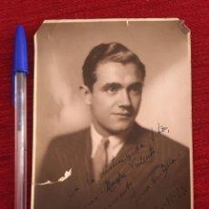 Coleccionismo deportivo: R9730 FOTO FOTOGRAFIA ORIGINAL JUGADOR JOSÉ CARLOS CASTILLO BARCELONA DEDICATORIA CON AUTOGRAFO 1929. Lote 210333158