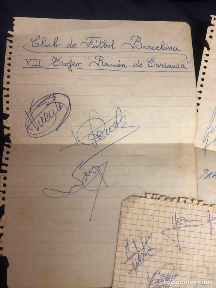 Coleccionismo deportivo: AUTÓGRAFOS FC BARCELONA TROFEO CARRANZA AÑOS 60 - Foto 2 - 210610361