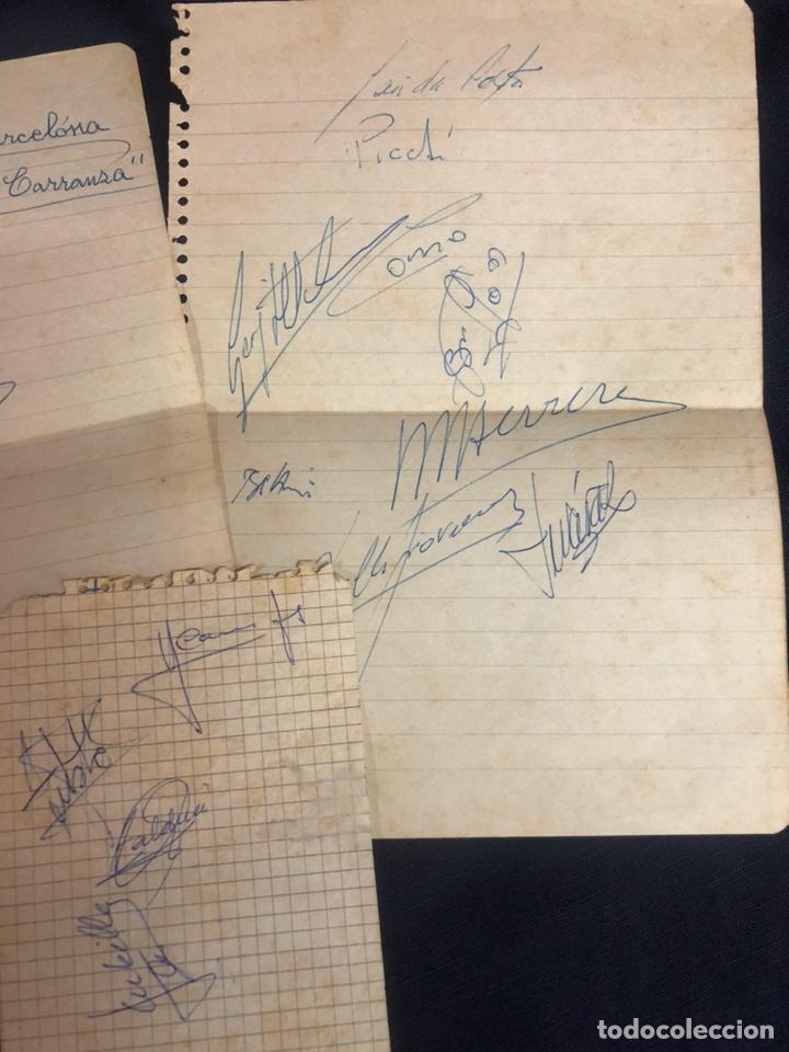 Coleccionismo deportivo: AUTÓGRAFOS FC BARCELONA TROFEO CARRANZA AÑOS 60 - Foto 3 - 210610361