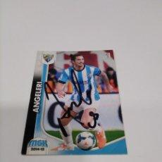 Coleccionismo deportivo: CROMO AUTOGRAFIADO ANGELERI MÁLAGA C.F.. Lote 213773716