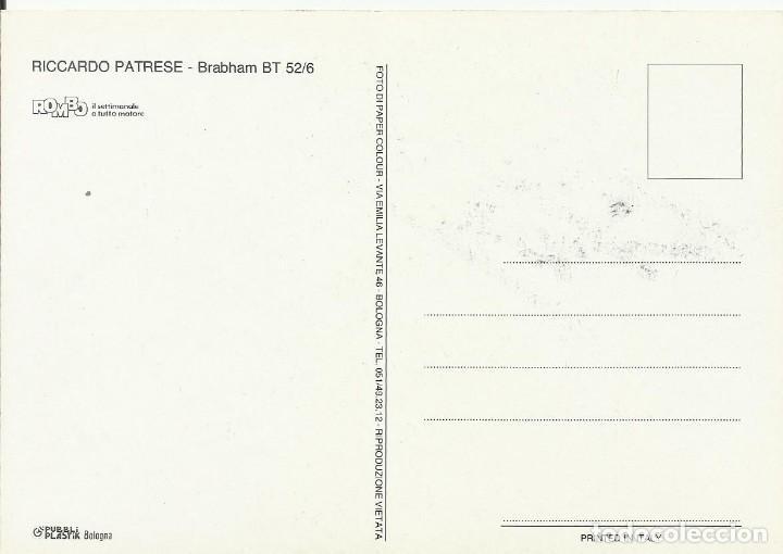 Coleccionismo deportivo: Riccardo Patrese. Autograph. Autógrafo. Firma original. Fórmula 1. Automovilismo. Brabham BT. - Foto 2 - 215339710