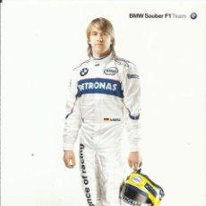 Coleccionismo deportivo: NICK HEIDFELD. AUTÓGRAFO. AUTOGRAPH. FIRMA ORIGINAL. FÓRMULA 1. AUTOMOVILISMO. BMW. 2005. 10X15 CM.. Lote 215342127