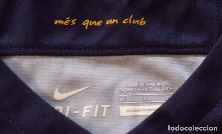 Coleccionismo deportivo: Neymar. Autógrafo, firma original, autograph. F.C. Barcelona. Camiseta UNICEF Nike oficial XL. Qatar - Foto 4 - 216355637