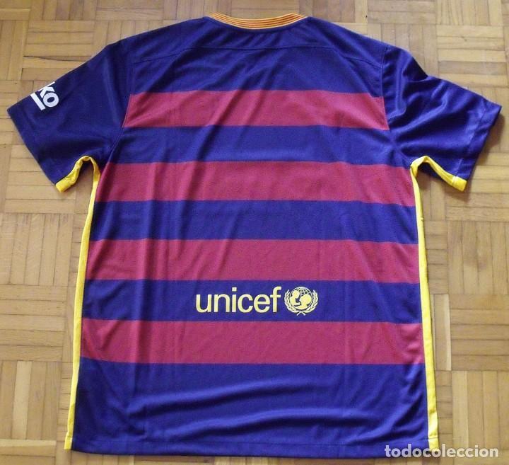 Coleccionismo deportivo: Neymar. Autógrafo, firma original, autograph. F.C. Barcelona. Camiseta UNICEF Nike oficial XL. Qatar - Foto 5 - 216355637