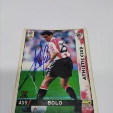 Coleccionismo deportivo: CROMO AUTOGRAFIADO BOLO - ATHLETIC CLUB.. Lote 218232276