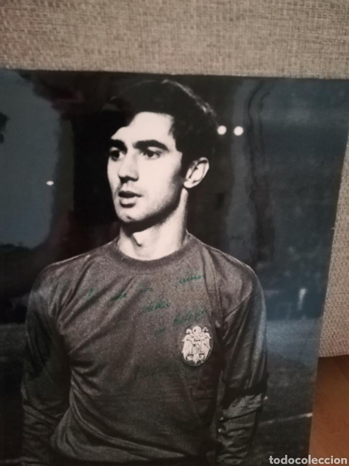 Coleccionismo deportivo: José Eulogio GARATE. Autógrafo. Dedicado, firmado y fechado (año 1969). Cartón duro. - Foto 2 - 219303946
