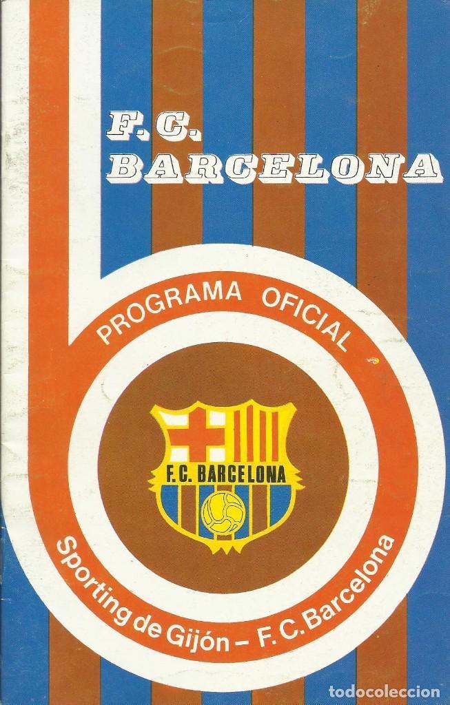 Coleccionismo deportivo: Autógrafo, firma original Tomé. Programa Oficial F. C. Barcelona. Sporting de Gijón. 1975. - Foto 2 - 221698285