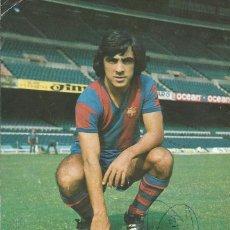 Coleccionismo deportivo: AUTÓGRAFO, FIRMA ORIGINAL FORTES. PROGRAMA OFICIAL F. C. BARCELONA. HÉRCULES F. C. 1975.. Lote 221698613