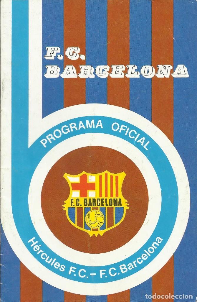 Coleccionismo deportivo: Autógrafo, firma original Fortes. Programa Oficial F. C. Barcelona. Hércules F. C. 1975. - Foto 2 - 221698613