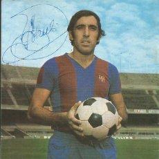 Coleccionismo deportivo: AUTÓGRAFO, FIRMA ORIGINAL ASENSI. PROGRAMA OFICIAL F. C. BARCELONA. ELCHE F. C. 1975.. Lote 221699228