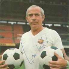 Coleccionismo deportivo: AUTÓGRAFO, FIRMA ORIGINAL WEISWEILER. PROGRAMA OFICIAL F. C. BARCELONA. U. D. LAS PALMAS. 1975.. Lote 221699608