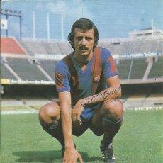 Coleccionismo deportivo: AUTÓGRAFO, FIRMA ORIGINAL DE LA CRUZ. PROGRAMA OFICIAL F. C. BARCELONA. ATHLETIC DE BILBAO. 1975.. Lote 221700872