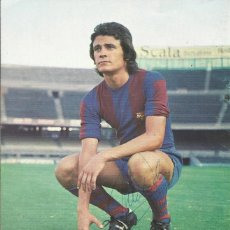 Coleccionismo deportivo: AUTÓGRAFO, FIRMA ORIGINAL ALBALADEJO. PROGRAMA OFICIAL F. C. BARCELONA. REAL BETIS. 1975.. Lote 221702695