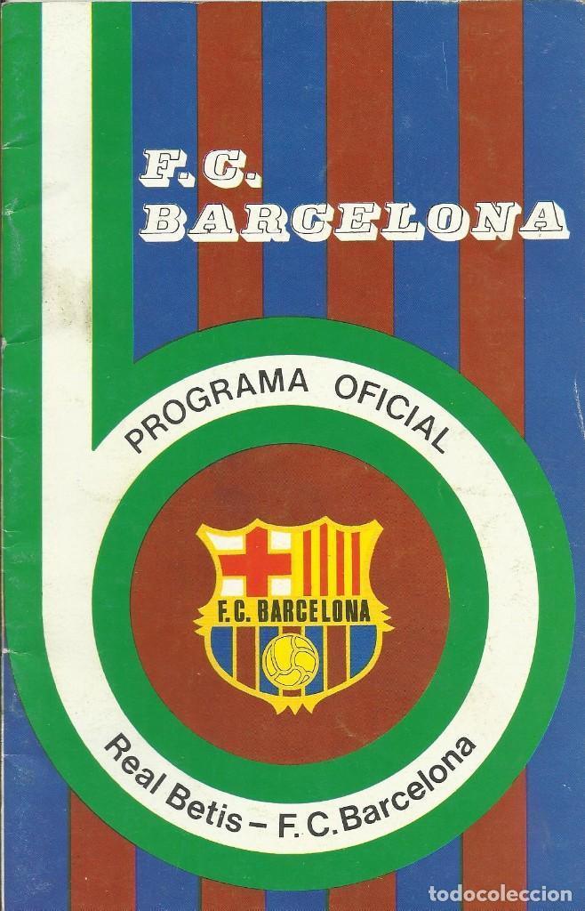 Coleccionismo deportivo: Autógrafo, firma original Albaladejo. Programa Oficial F. C. Barcelona. Real Betis. 1975. - Foto 2 - 221702695