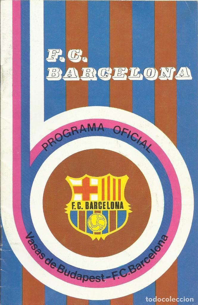 Coleccionismo deportivo: Autógrafo, firma original Mora. Programa Oficial F. C. Barcelona. Vasas de Budapest. 1975. - Foto 2 - 221703007
