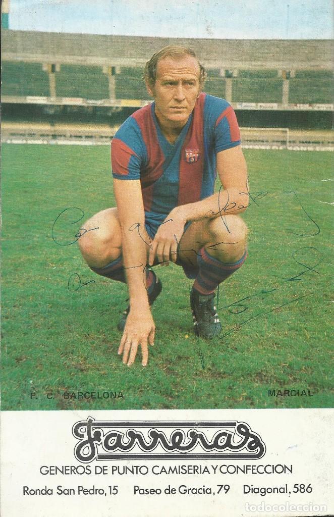 AUTÓGRAFO, FIRMA ORIGINAL MARCIAL. PROGRAMA OFICIAL F. C. BARCELONA. R. C. D. ESPAÑOL. 1975. (Coleccionismo Deportivo - Documentos de Deportes - Autógrafos)