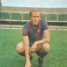 Coleccionismo deportivo: AUTÓGRAFO, FIRMA ORIGINAL MARCIAL. PROGRAMA OFICIAL F. C. BARCELONA. R. C. D. ESPAÑOL. 1975.. Lote 221703501