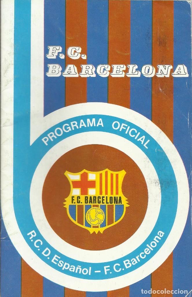 Coleccionismo deportivo: Autógrafo, firma original Marcial. Programa Oficial F. C. Barcelona. R. C. D. Español. 1975. - Foto 2 - 221703501
