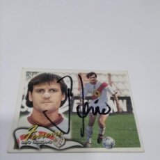 Coleccionismo deportivo: CROMO AUTOGRAFIADO FERREIRA - RAYO VALLECANO.. Lote 222477933