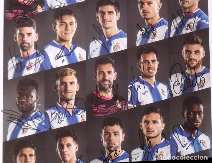Coleccionismo deportivo: RCD Espanyol. 23 autógrafos, autographs, firmas originales plantilla 2016-17. Poster cartel oficial. - Foto 3 - 225151510