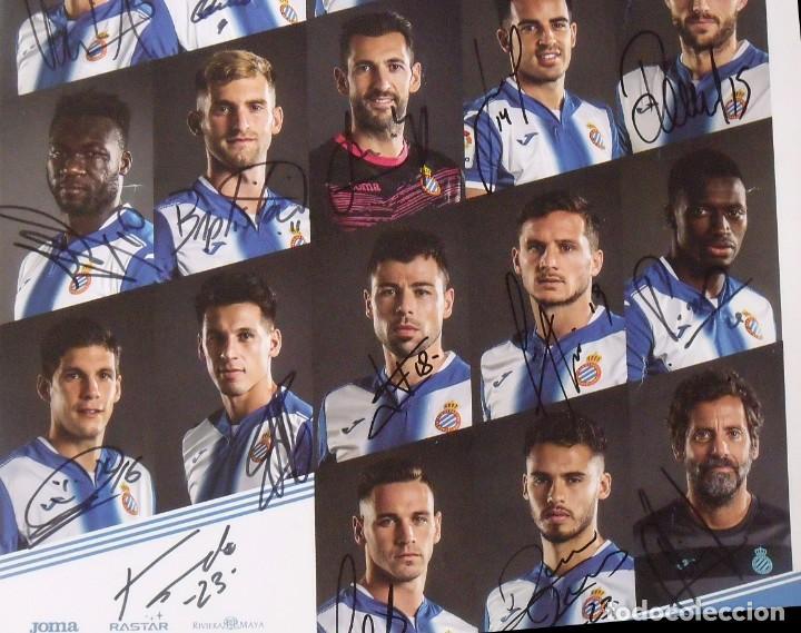 Coleccionismo deportivo: RCD Espanyol. 23 autógrafos, autographs, firmas originales plantilla 2016-17. Poster cartel oficial. - Foto 4 - 225151510