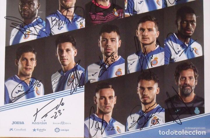 Coleccionismo deportivo: RCD Espanyol. 23 autógrafos, autographs, firmas originales plantilla 2016-17. Poster cartel oficial. - Foto 5 - 225151510