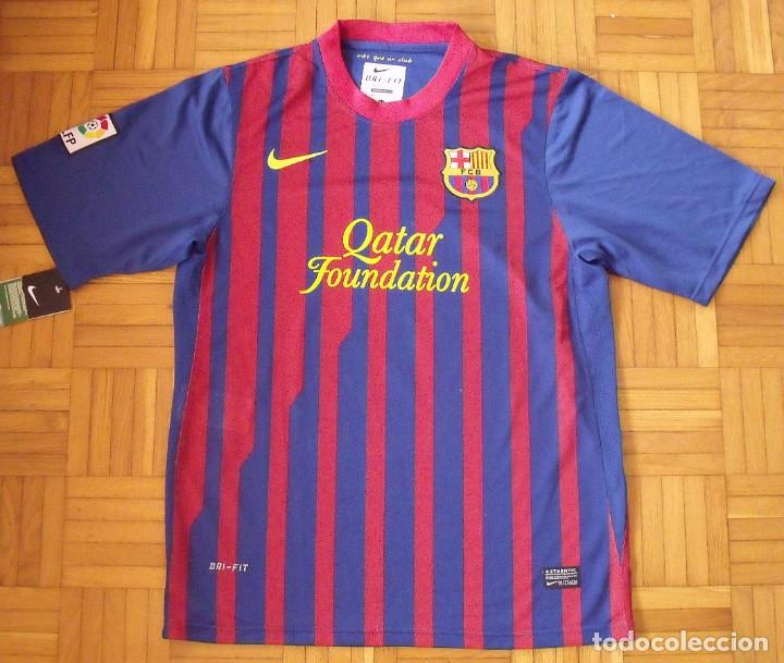 Coleccionismo deportivo: Camiseta F. C. Barcelona. Firma original, autógrafo Andrés Iniesta. Nike. Qatar Foundation. XL. - Foto 7 - 228455270