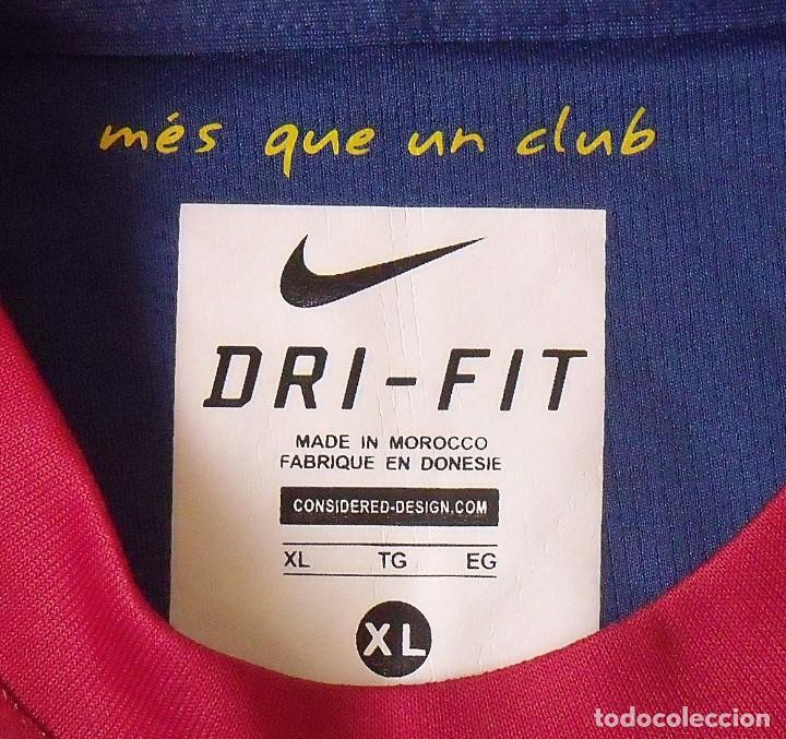 Coleccionismo deportivo: Camiseta F. C. Barcelona. Firma original, autógrafo Andrés Iniesta. Nike. Qatar Foundation. XL. - Foto 5 - 228455270