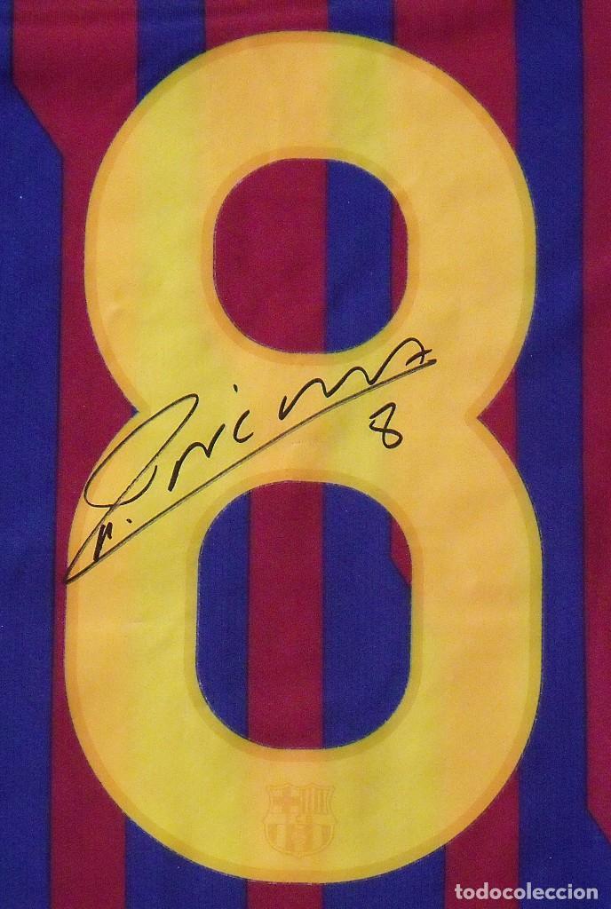 Coleccionismo deportivo: Camiseta F. C. Barcelona. Firma original, autógrafo Andrés Iniesta. Nike. Qatar Foundation. XL. - Foto 3 - 228455270