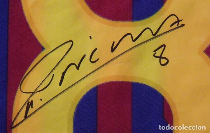 Coleccionismo deportivo: Camiseta F. C. Barcelona. Firma original, autógrafo Andrés Iniesta. Nike. Qatar Foundation. XL. - Foto 4 - 228455270