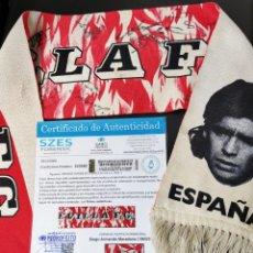 Coleccionismo deportivo: BUFANDA FIRMADA POR MARADONA SIMEONE SEVILLA FC CON COA 92-93 ROOKIE AUTENTIFICADA CERTIFICADO. Lote 234337180