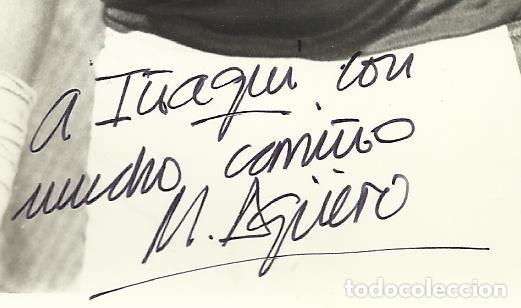 Coleccionismo deportivo: Mario Agüero. Autógrafo, firma. Hockey Patines. Liceo Caixa Galicia. 1982-83. Campeón Liga. - Foto 2 - 237322595