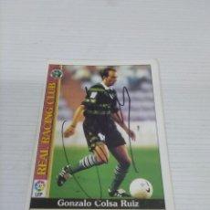 Coleccionismo deportivo: CROMO COLSA - RACING DE SANTANDER.. Lote 237367185
