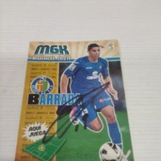Coleccionismo deportivo: CROMO BARRADA - GETAFE.. Lote 237367480