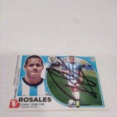 Coleccionismo deportivo: CROMO ROSALES - MÁLAGA.. Lote 237438605