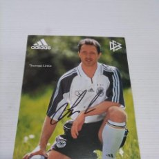 Coleccionismo deportivo: POSTAL THOMAS LINKE - ALEMANIA.. Lote 237495825